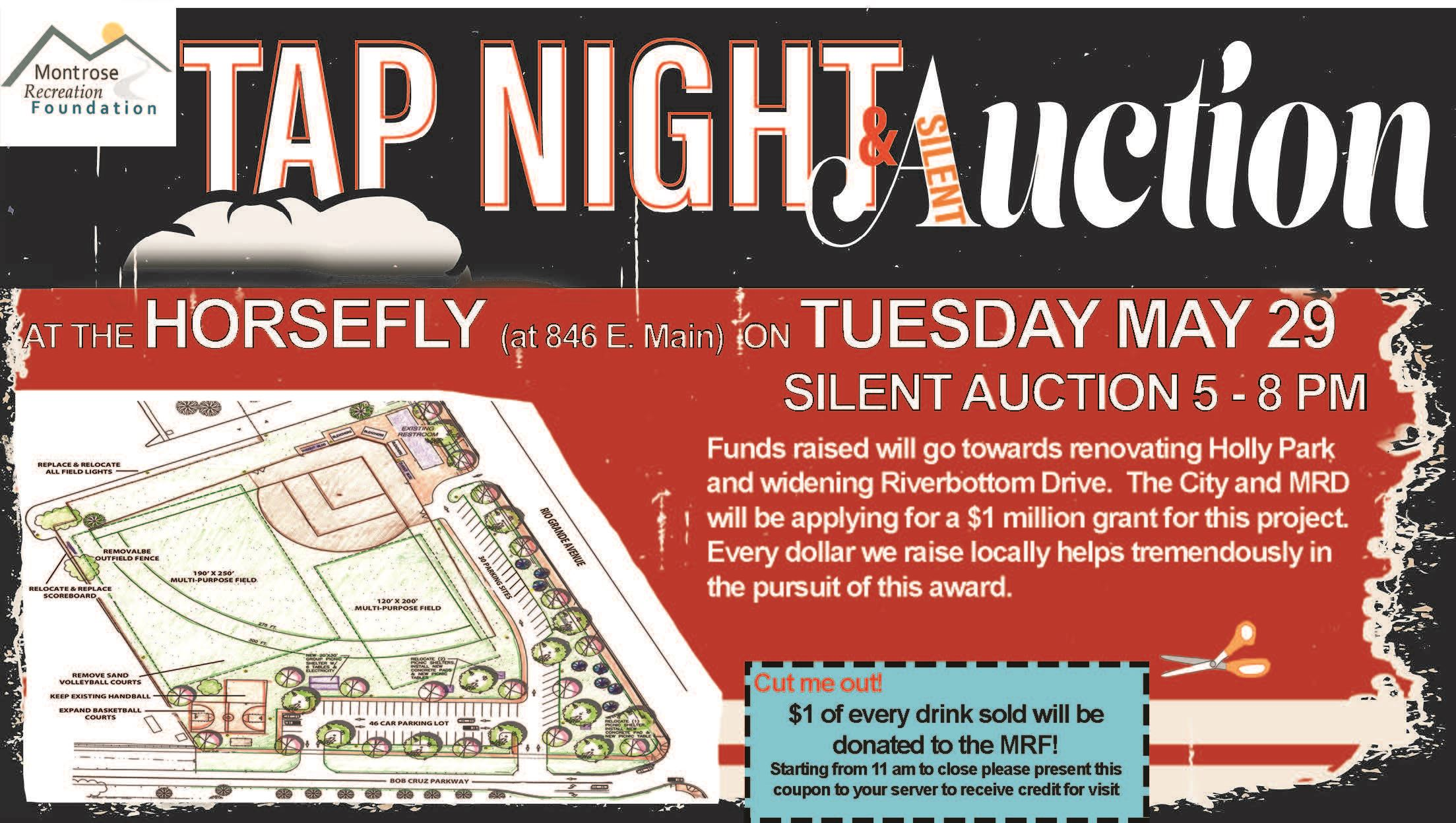 Tap Night and Auction Flyer